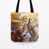 tank girl Tote Bags featuring Tank Girl by Liam Brazier
