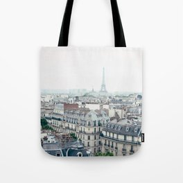 Eiffel Tower and Parisian roofs Tote Bag