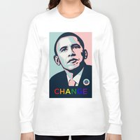obama Long Sleeve T-shirts featuring Obama LGBT by HUMANSFOROBAMA