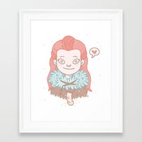 ygritte Framed Art Prints featuring Ygritte by Stefie Zöhrer