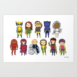 Super Cute Heroes: X-Men Art Print
