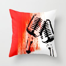Lets Duet Throw Pillow