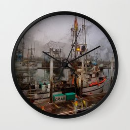 Fresh Live Crab! Wall Clock