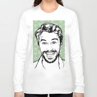 james franco Long Sleeve T-shirts featuring Franco by naidl