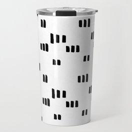 Line Dot Black Paint on Paper Travel Mug