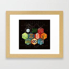 Math Game in black Framed Art Print