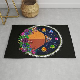 Psychedelic Magic Mushrooms All Seeing Eye Rug