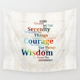 Colorful Serenity Prayer by Sharon Cummings Wall Tapestry