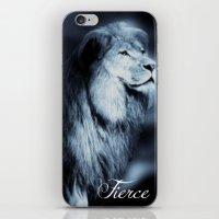 fierce iPhone & iPod Skins featuring Fierce by RubyBliss