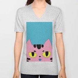 Alien Cat High Five Hello Pop Art Unisex V-Neck