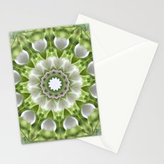 White Hearts Stationery Cards