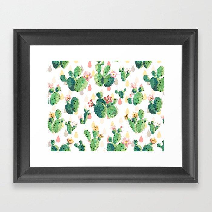 Cactus pattern Gerahmter Kunstdruck