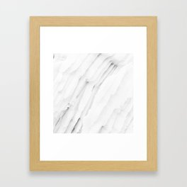 White Marble Edition 1 Framed Art Print