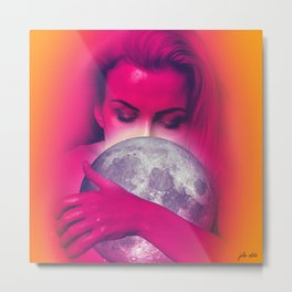 Luna Love Metal Print