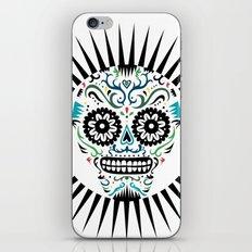 Sugar Skull SF multi -  on white iPhone & iPod Skin