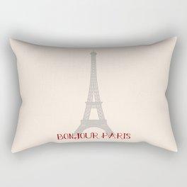 Bonjour Paris Rectangular Pillow