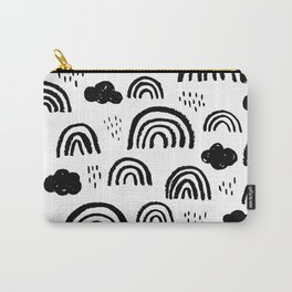 Black and white rainbow clouds Carry-All Pouch