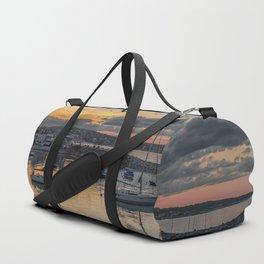 Sunset in Rockport Harbor 6-10-18 Duffle Bag