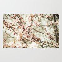 sakura Area & Throw Rugs featuring Sakura by Jenndalyn