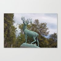 elk Canvas Prints featuring Elk by Yellow Barn Studio
