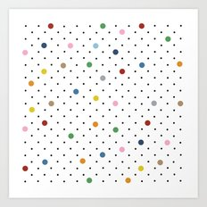 Pin Points Polka Dot Art Print