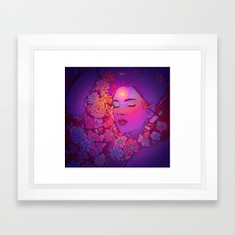 Floral Bath 2 | 2018 Framed Art Print