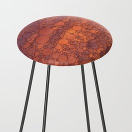 Percolated Sunset in Warm Tones Counter Stool