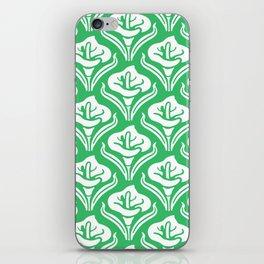Calla Lily Pattern Green iPhone Skin