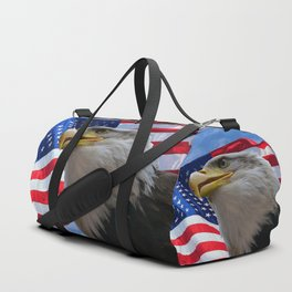 American Flag and Bald Eagle Duffle Bag