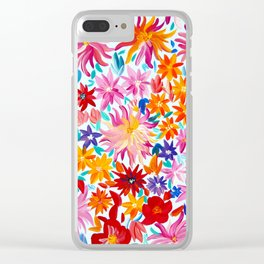 Daliahs and other Flowers Clear iPhone Case