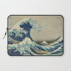 Great Wave Off Kanagawa (Kanagawa oki nami-ura or 神奈川沖浪裏) Laptop Sleeve