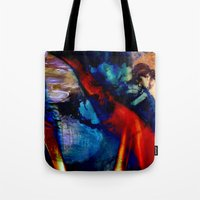 degas Tote Bags featuring Puddle by Stephen Linhart