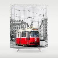 vienna Shower Curtains featuring Vienna by Ira Golenkova