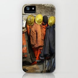 Working clothes, steam locomotives iPhone Case
