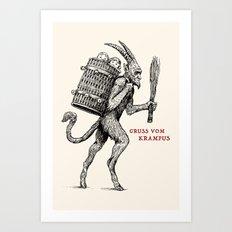 Gruss vom Krampus Art Print