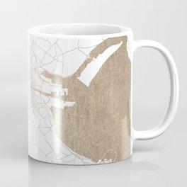 Dublin White on Gold Street Map II Coffee Mug