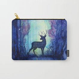 Reindeer in Magical Forest Carry-All Pouch