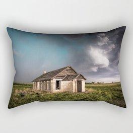 Pioneer - Abandoned Settlement Under Storm On Colorado Plains Rectangular Pillow