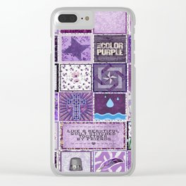 The Color Purple Quilt Clear iPhone Case