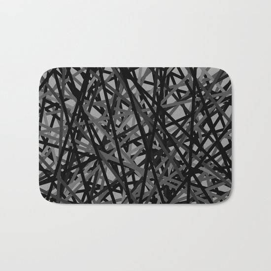 Kerplunk Extended Black and White Bath Mat