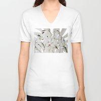 women V-neck T-shirts featuring women by KA Art