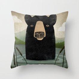 Lake Bear Throw Pillow