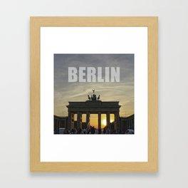 BERLIN, Sunset at the Brandenburg Gate Framed Art Print