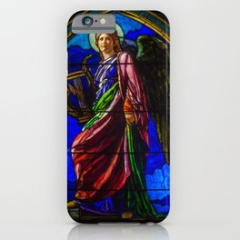 """John La Farge """"The Angel Holding a Lyre (or The Harpist)"""" window iPhone Case"""