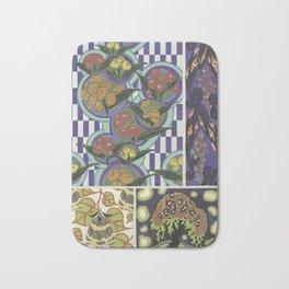 trendy vintage floral pattern Bath Mat