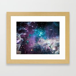 Lavender Teal Star Nursery Framed Art Print