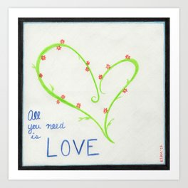 Love, Cubed Art Print
