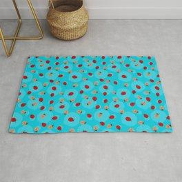 Dot Ladybugs - Cerulean Blue & Sky Blue Color Rug