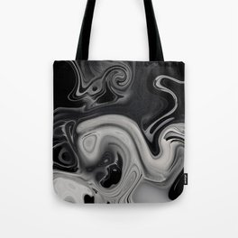 black and gray marble Tote Bag