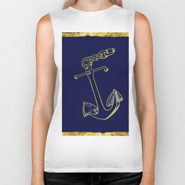 Anchor in Blue Biker Tank